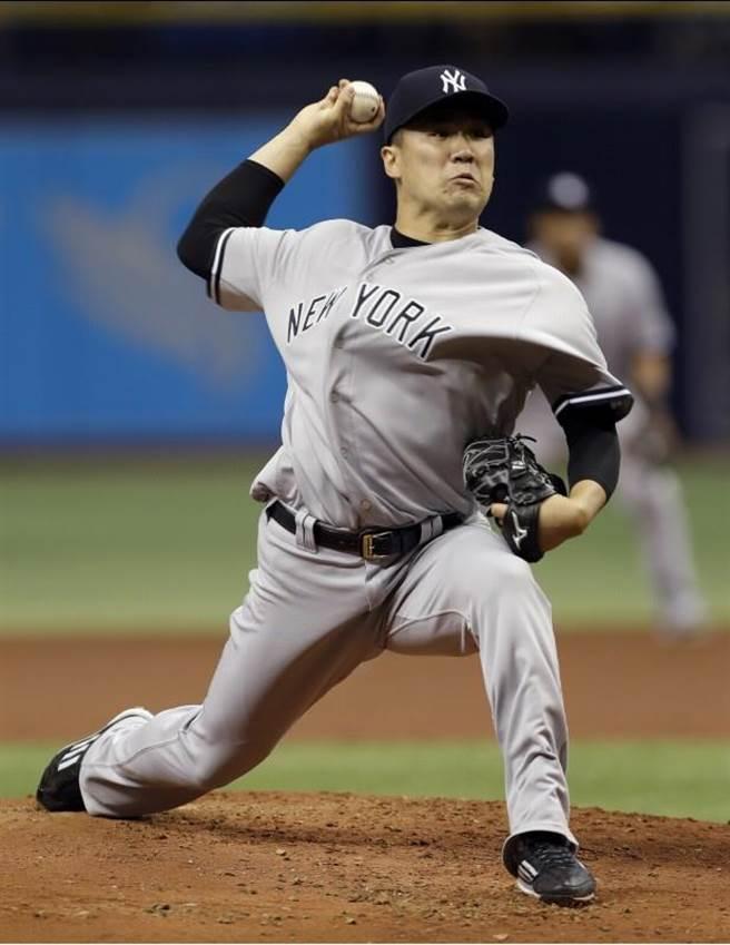 田中將大本季投球改以「二縫線速球」為主,就是受黑田博樹影響。(美聯社資料照)