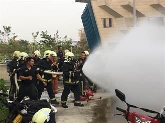 中市化學災害搶救訓練 強化指揮救援能力