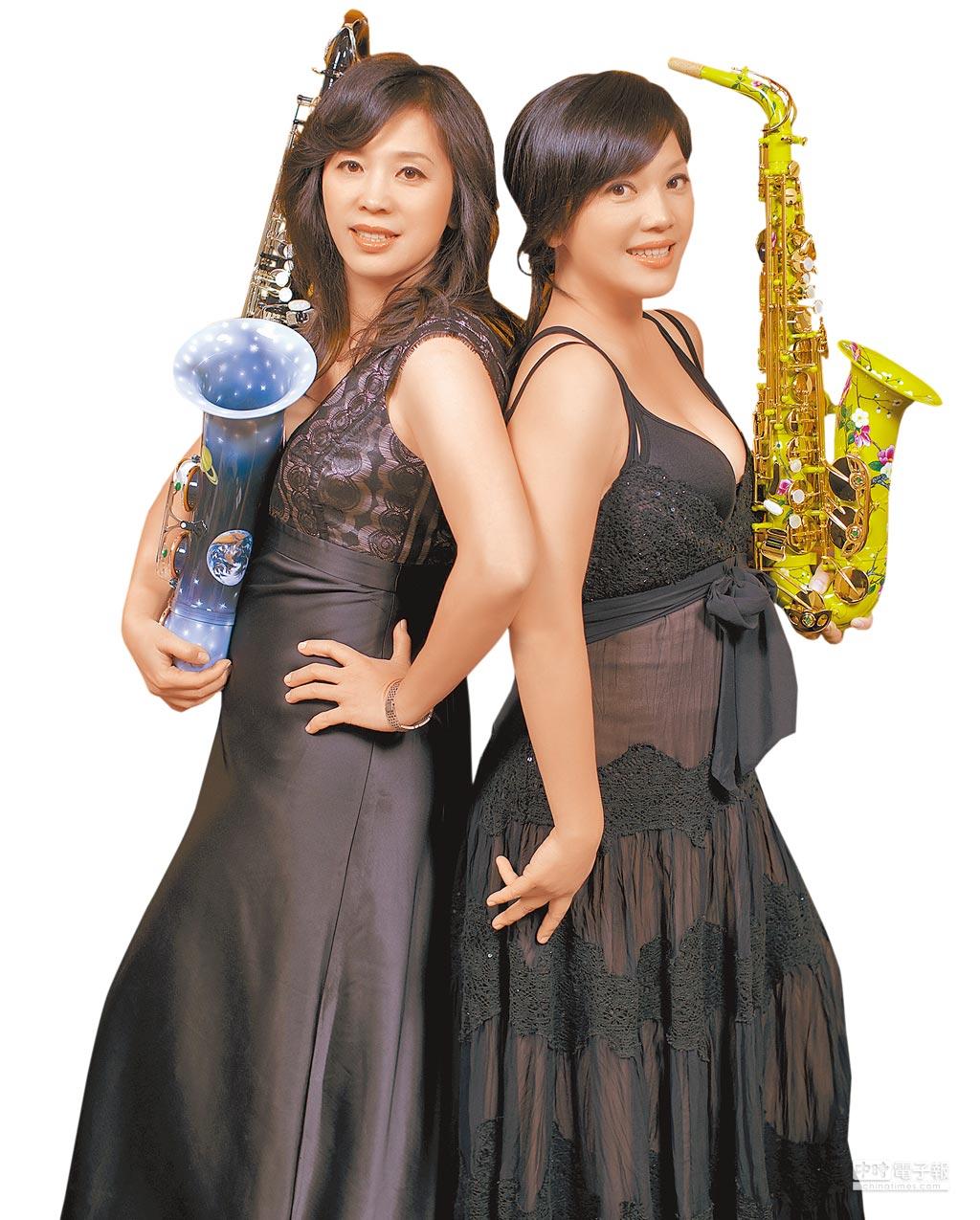 張淑儀(左)、張佳琳(右)姊妹原本是音樂家,卻一頭栽入樂器製作與銷售,在商場闖出一片天。(翻攝照片)