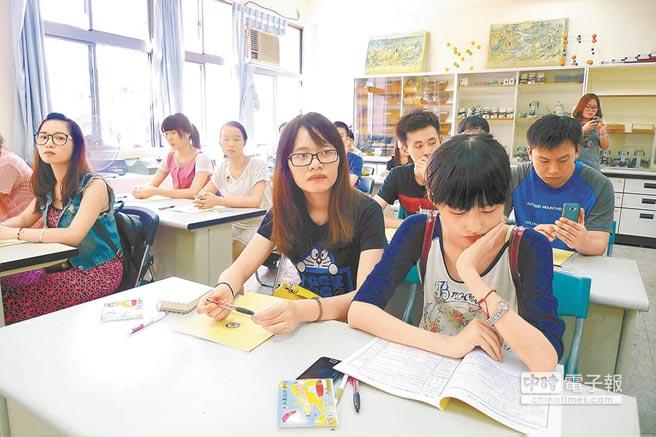 陸生在花蓮大漢技術學院上課。(本報系資料照片)