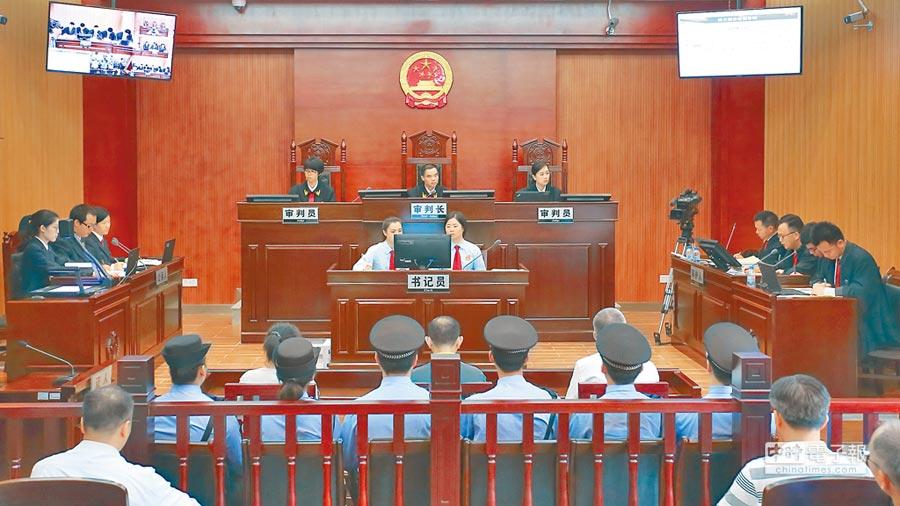 圖為大陸法院庭審資料照片。(新華社)