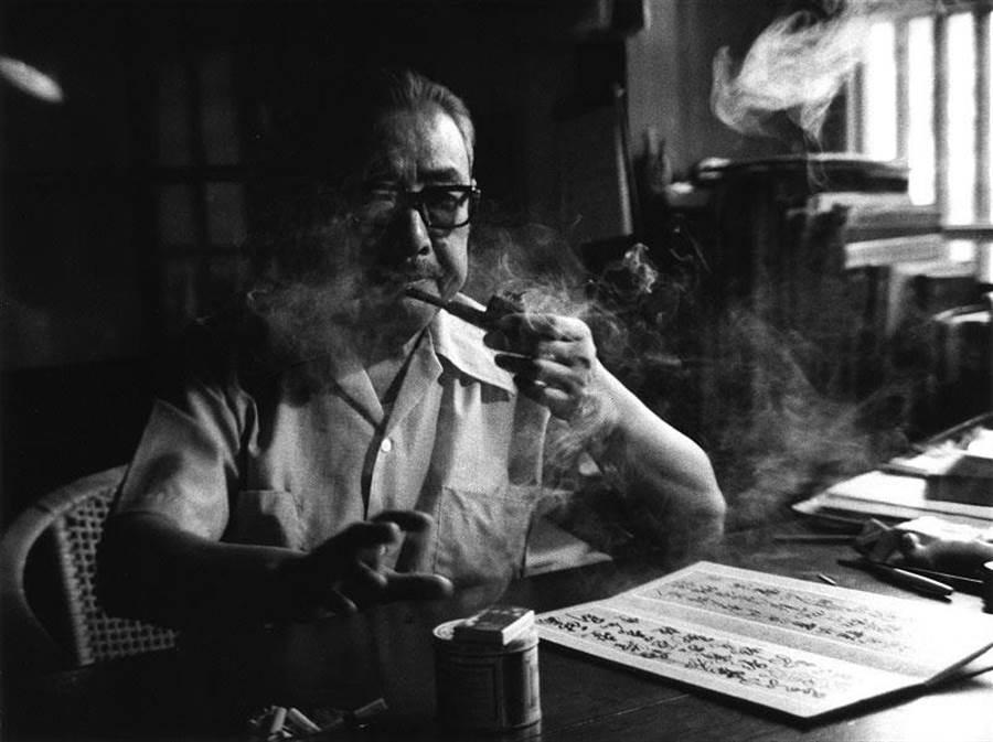 《肖像論─臺靜農》,1977,銀鹽相紙(圖/臺北市立美術館提供/王信攝)