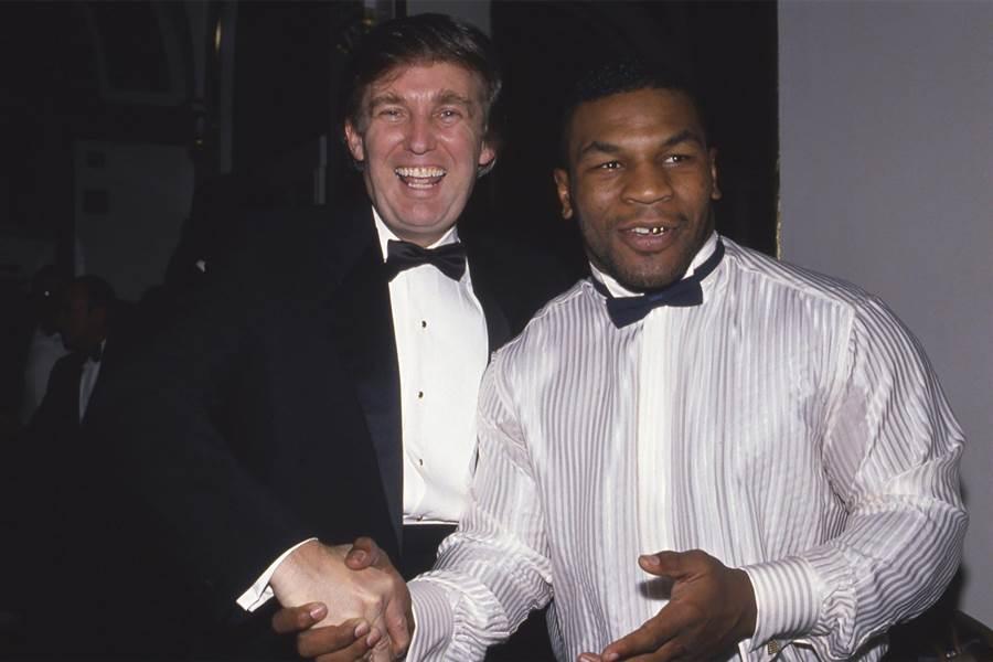 圖為川普(左)和拳王泰森(右)合照。(圖/網路)