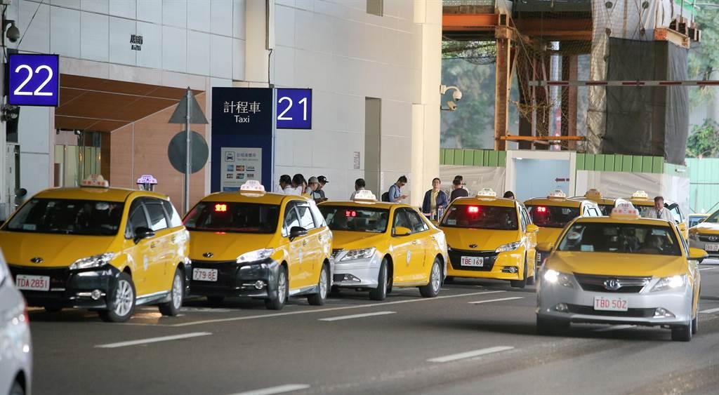 原本第二航頃排班計程車21號會面點上車處。(陳麒全攝)