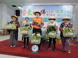 台中素食養生展  新鮮蔬果抱回家