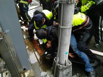 北市男子揚言引爆瓦斯  遭警方帶離