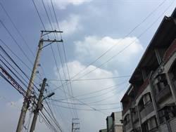 電桿掛纜線凌亂  中市106年起限期改善