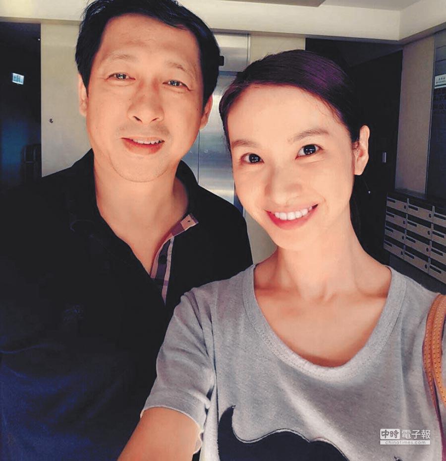 陳曉菁(右)被惡意中傷,老公林佐岳心疼護妻。(取材自臉書)