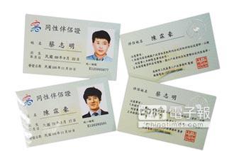 全國首創 高市核發「同性伴侶證」