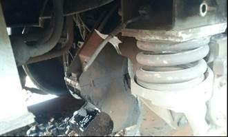 自強號「爆胎」擊破車窗 600火車旅客驚魂