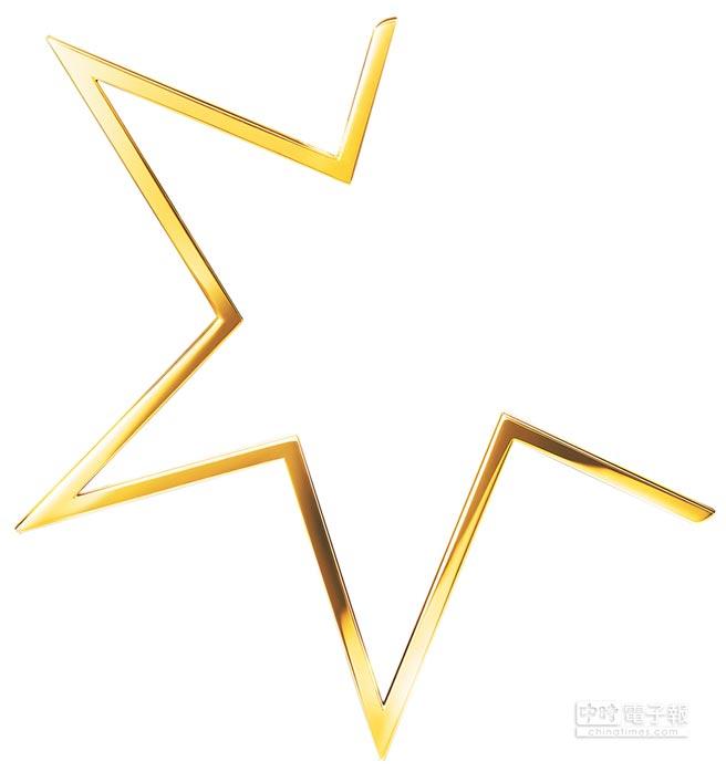 1.TASAKI abstract star黃K金單耳式耳環,9萬4600元。