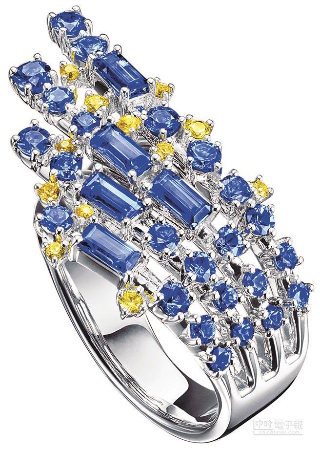 2.TASAKI peony藍寶石戒指,23萬7000元。
