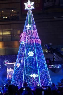 夢時代「愛‧Sharing」 12米高聖誕樹今晚點燈