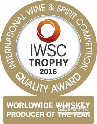 金車噶瑪蘭威士忌 獲2016 IWSC年度酒廠冠軍