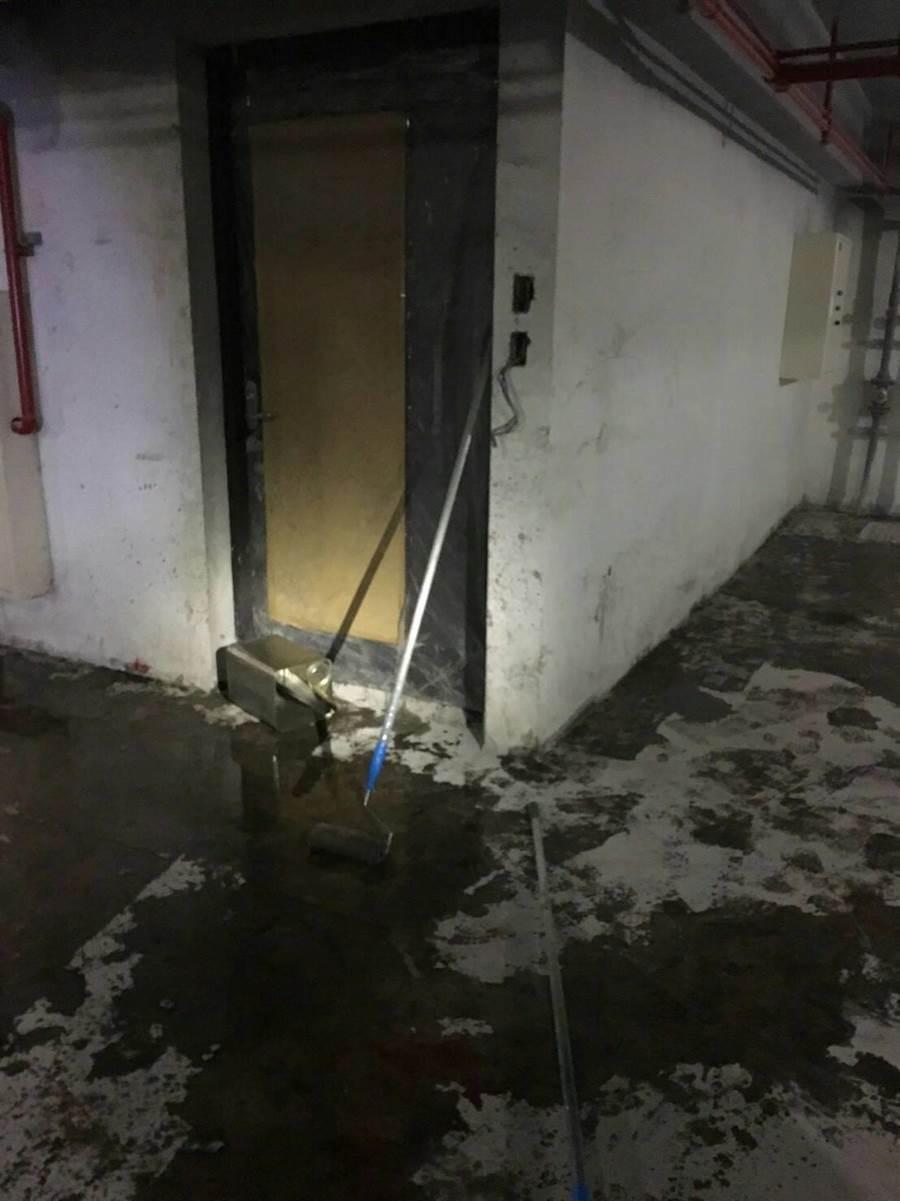 地下3樓做PU塗層,桃工人1死3傷。(蔡依珍翻攝)