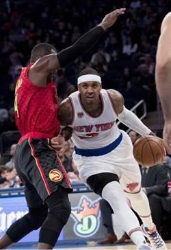 NBA》甜瓜31分夠神勇 尼克主場射殺老鷹