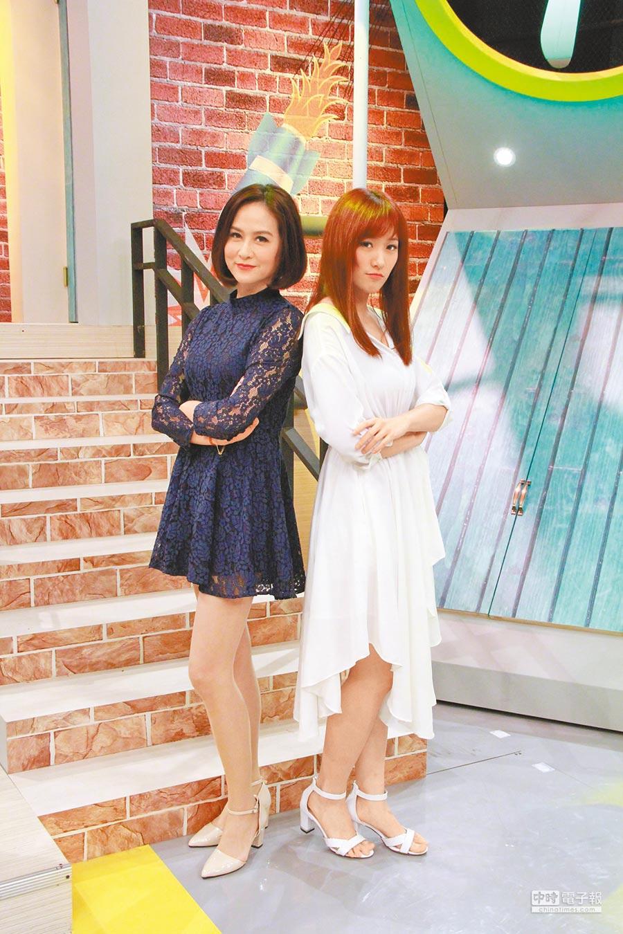 金友莊(左)與女兒葛子楊平常相處像朋友。