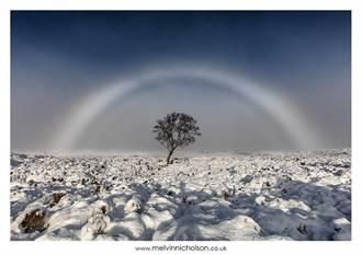 奇景!蘇格蘭高地驚見白色彩虹