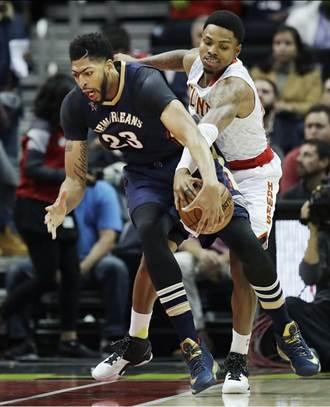 NBA》戴維斯受傷 鵜鶘仍在客場擊潰老鷹摘3連勝