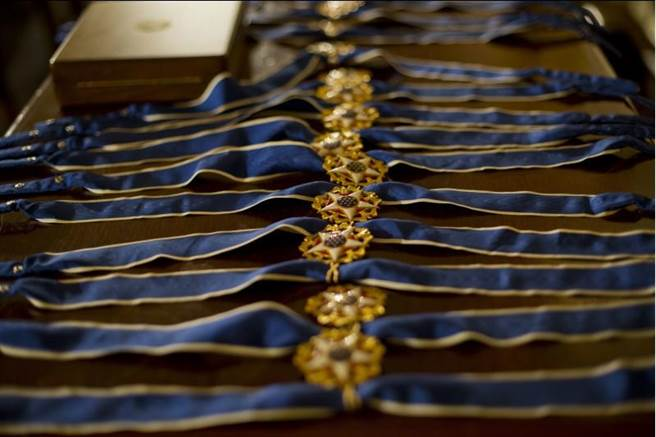 象徵平民最高榮譽的自由勳章。(美聯社)