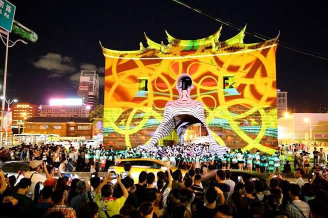 公共藝術教育推廣據點「POP-UP微型地景基地」,回顧今年舉辦的白晝之夜精采片段。(圖/臺北市政府文化局提供)