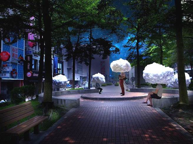 法國藝術團隊Mickaël Martins Afonso和CarolineEscaffre-Faure創作《白日夢》。(圖/臺北市政府文化局提供)
