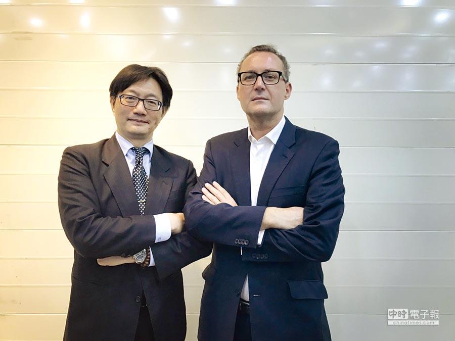 KPMG全球醫療團隊負責人Dr.Mark Britnell(右)與KPMG安侯建業生技暨銀髮產業主持人蘇嘉瑞。圖/KPMG提供