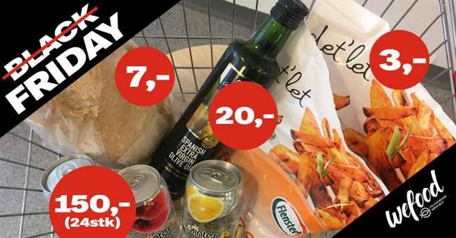 Wefood超市的廣告文宣。(圖/臉書專頁:@WefoodOverskudsmad)