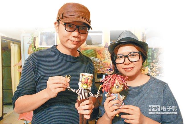 《巴特》由導演黃勻弦(右)和動畫師唐治中(左)創作。(許文貞攝)