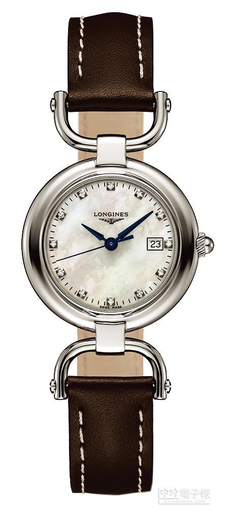 LONGINES騎士系列馬蹬造型腕表,4萬5000元。