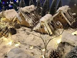 迎耶誕 酒店秀日本合掌村雪景薑餅屋