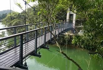 情人湖吊橋換新妝  年底啟用