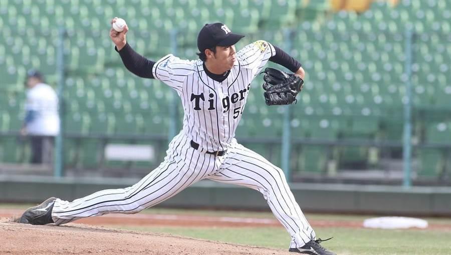 日職西軍青柳晃洋,今面對歐洲聯隊主投6局飆出9次三振率隊奪下5連勝。(中職提供)