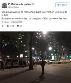 巴黎傳劫持搶案 6人質獲釋匪在逃