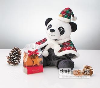 耶誕貓熊分享愛