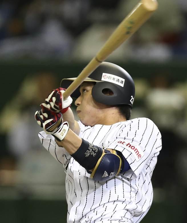 山田哲人連兩季「3-3-3」,為日職本季最超值投資之一。(美聯社資料照)