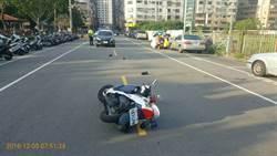 中市員警攔截逆向車  遭衝撞受傷