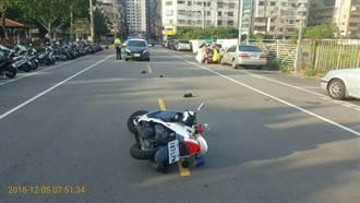 自小客車逆向行駛 拒攔檢衝撞中市員警