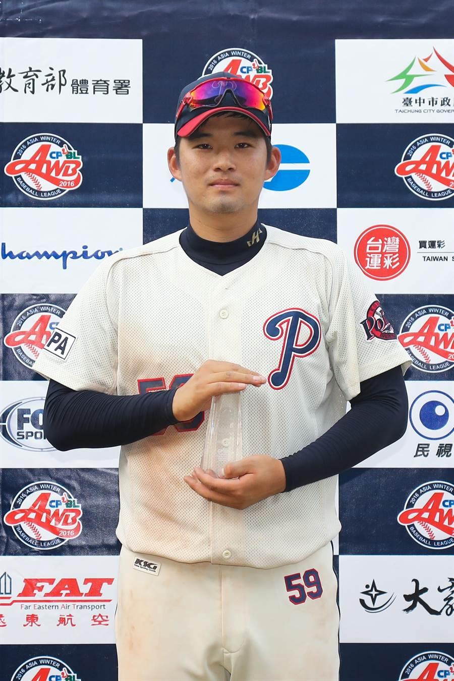 韓職聯隊尹大瑛拿下單場MVP。(中職提供)