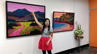 黃淑蓮環島作畫 回鄉傳遞藝術種子