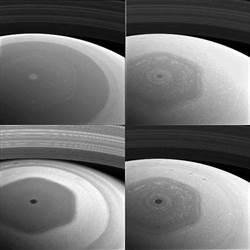 NASA卡西尼號探測器拍攝的土星環照片 首度曝光