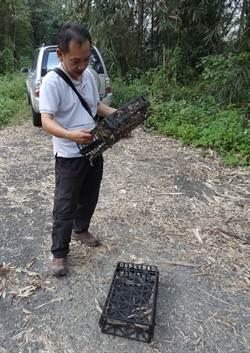 保護食蛇龜  巡山員查獲誘捕陷阱
