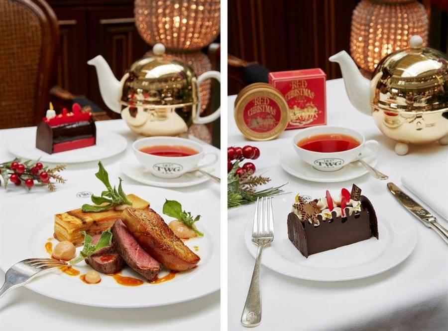 TWG Tea 歡慶套餐,含主餐一客、茗茶一壺、茶味甜點。(圖/業者提供,以下同)
