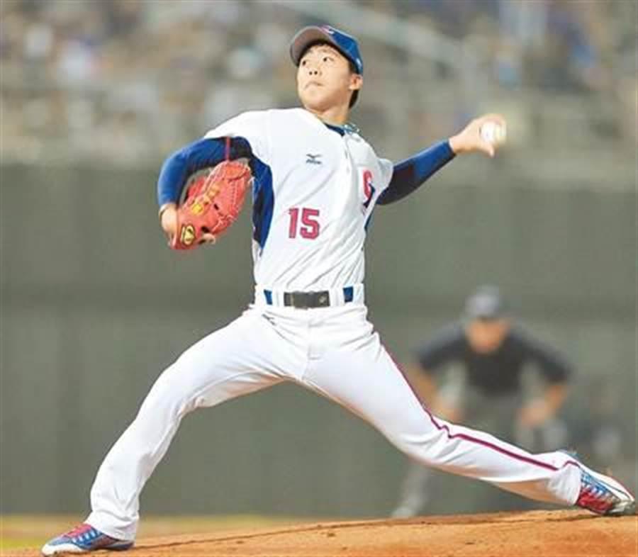 20歲業餘投手呂彥青,2015年參與世界棒球12強賽,但未入選今年經典賽。(資料照 鄭任南攝)