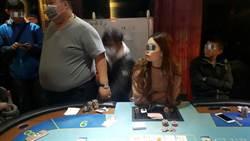 台中警查獲職業賭場  美女荷官引注目