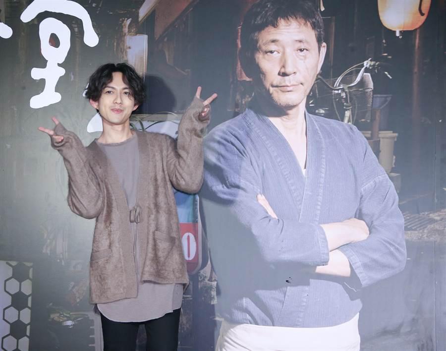 林宥嘉今晚替《深夜食堂 電影版2》站台,幸福洋溢藏不住。(攝影/羅永銘)