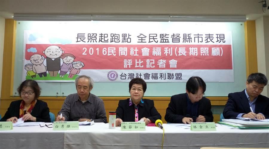 台灣社會福利總盟22日表示,照管專員人力資源不足,平均一名照專要對應591名個案,六都缺人嚴重,且照專多是約聘僱,離職率高,影響服務品質。中央社記者陳偉婷攝 105年12月22日