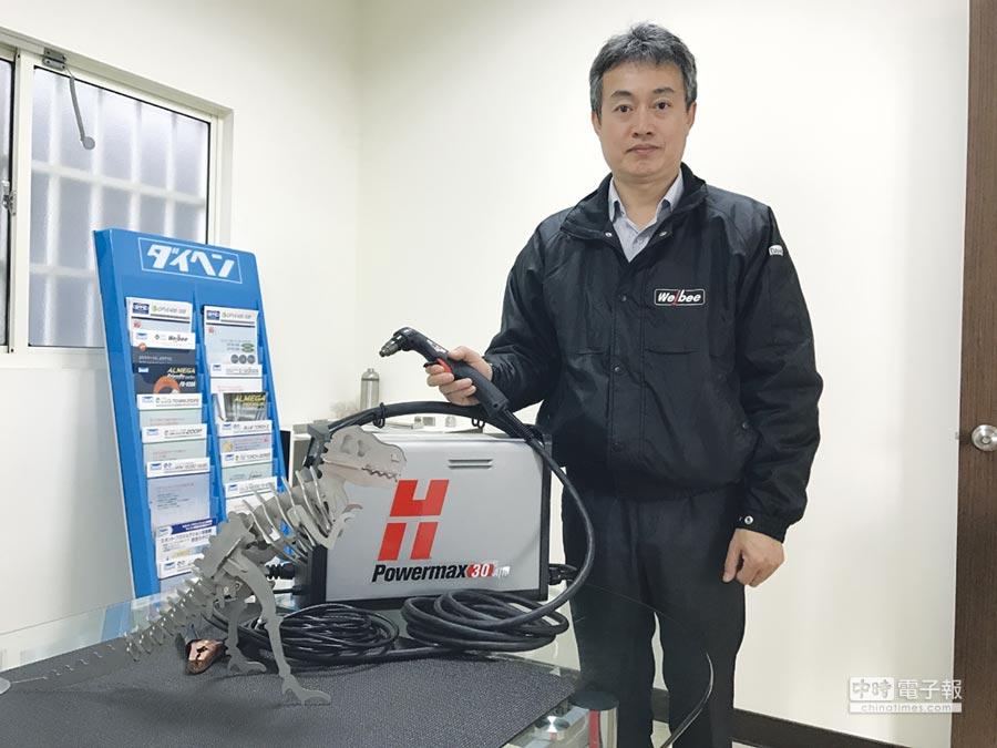 新銲易總經理張威星用心經營自動化設備相關領域產品。圖/業者提供