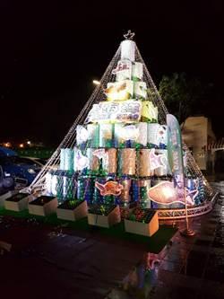 油桶耶誕樹  點亮宜蘭海港