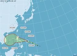 納坦增強為中颱 外圍雲系下周恐讓變濕冷